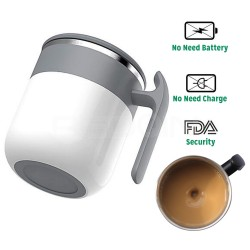 REDQIN Newest Self Stirring Coffee Mug – No need Battery – Automatic mixing cup Stainless Steel Thermal drive